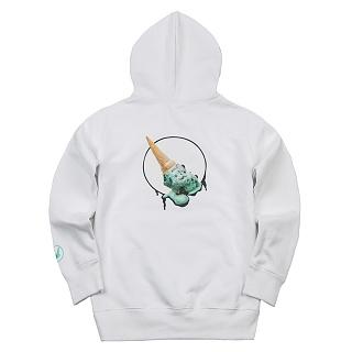 [멜팅아이스크림] mint chocolate-hoodie 970g white