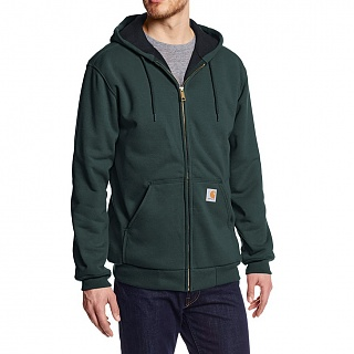[국내칼배송][칼하트써멀후드집업]Carhartt Mens Rain Defender Rutland Thermal-CANOPY GREEN