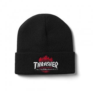 [국내칼배송] [HUF X THRASHER] 허프트래셔 THRASHER TDS BEANIE BLACK BN65M01