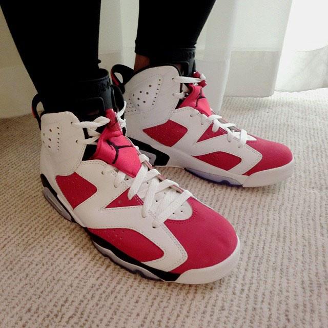 [국내배송] Nike Air Jordan Vi 6 Retro white/carmine-black Carmine 2014 384664 -160