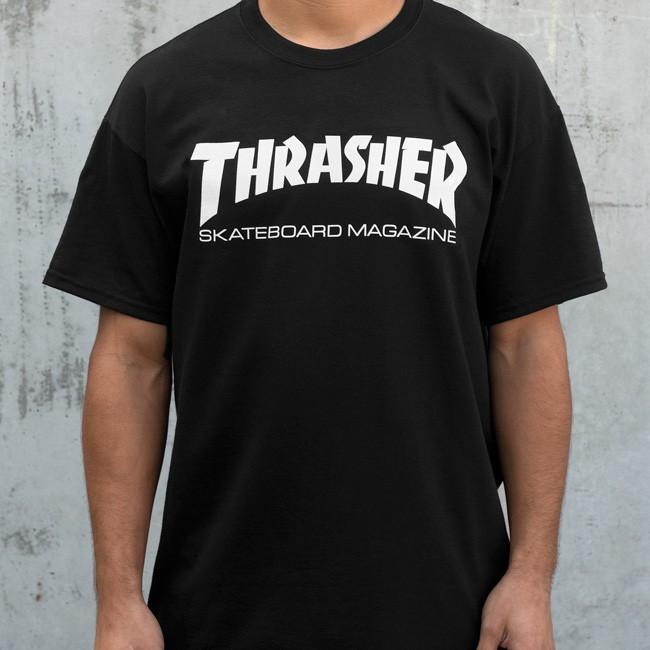 [국내 칼배송] 블랙 -트래셔 트레셔 쓰래셔 t shirts skate mag thrasher