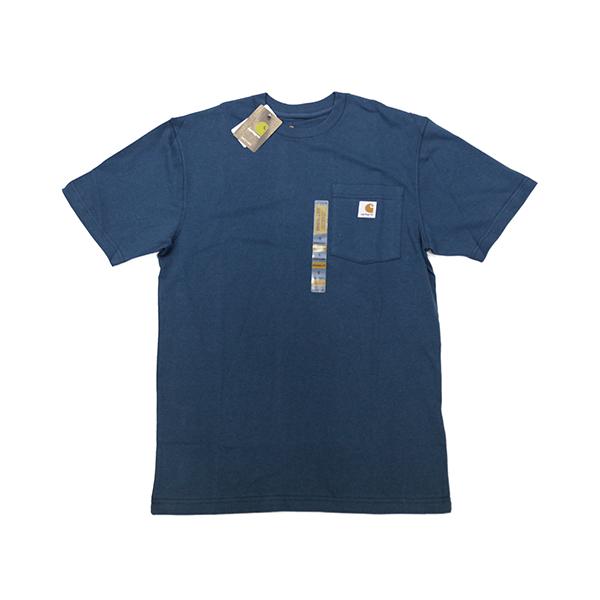 CARHARTT 칼하트 워크웨어 포켓 반팔티셔츠 K87-984 984-Stream Blue