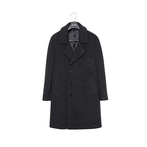 GREY HALF-RAGLAN HIDDEN SEMI-OVERFIT COAT