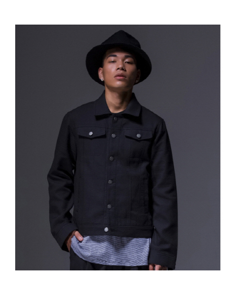 Twill Set Tucker Jacket [Black]