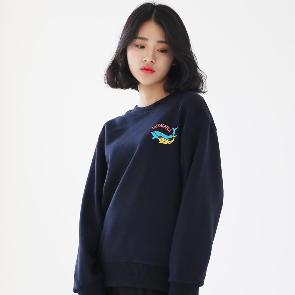 [라이카라이카] 투 월 스웻셔츠 맨투맨 LKMT001-NV