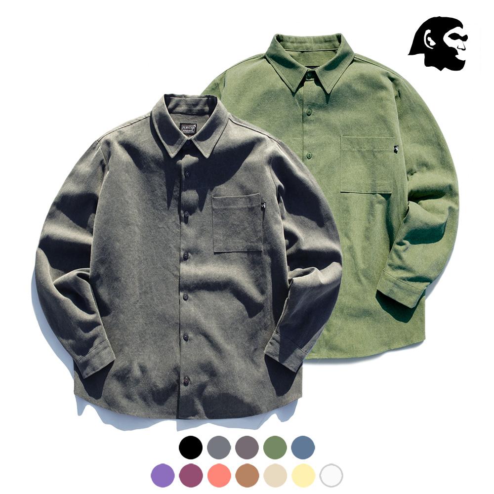 [기획특가][퍼스텝] 피그먼트 루즈핏 셔츠 6종 SMLS4058