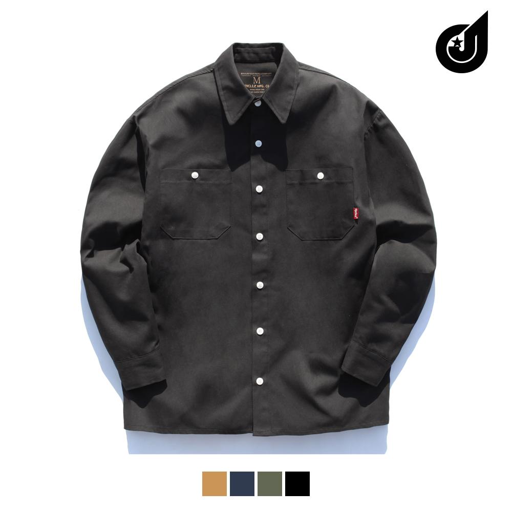 [다이클레즈] 투포켓 코튼 셔츠 4종 LHLS5034