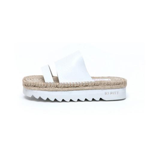 [1997PITT STREET]twoline slipper(white)