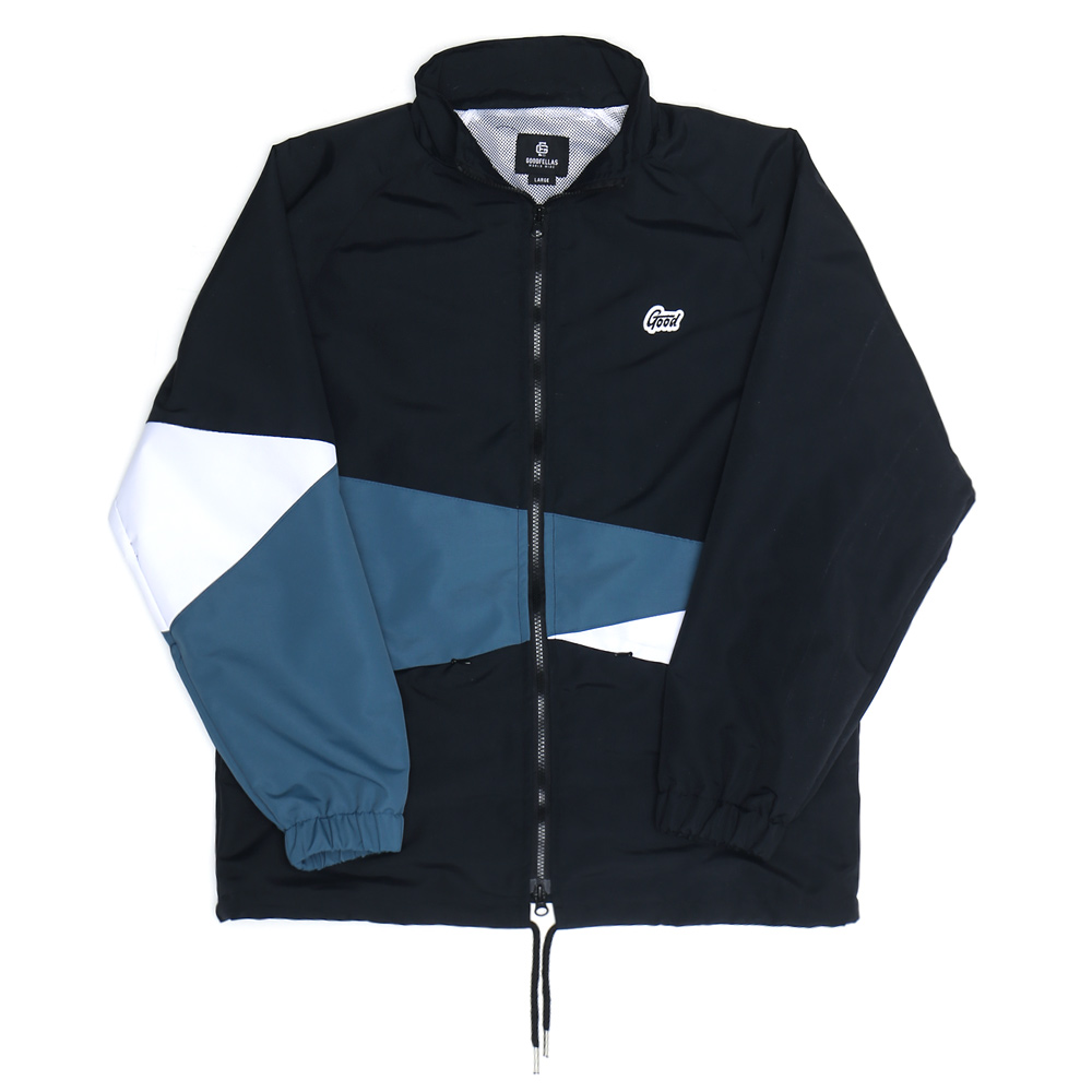 Oblique Track Jacket Black
