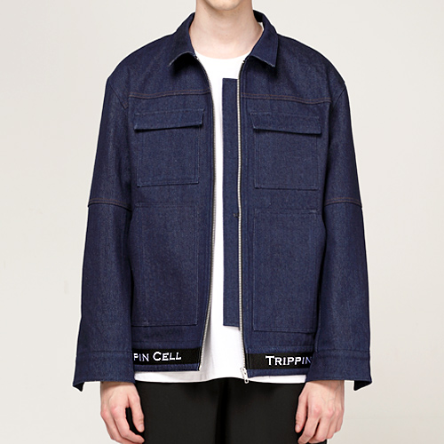 New Tripping denim Jacket (dark blue)