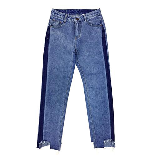 [자이언티착용]Side Color blocking Jeans(unisex)