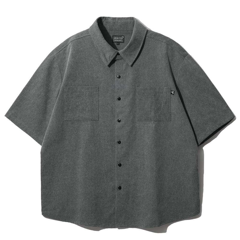 [퍼스텝] 피그먼트 루즈핏 반팔 셔츠 6종 SMSS4079