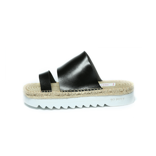 [1997PITT STREET]twoline slipper(black)