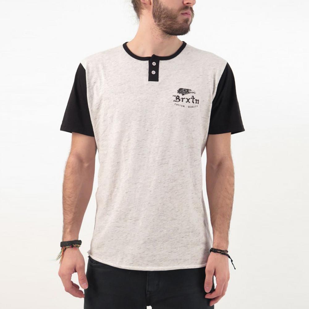 [국내칼배송] 브릭스톤 플라이어 헨리 티셔츠 헤더 스톤