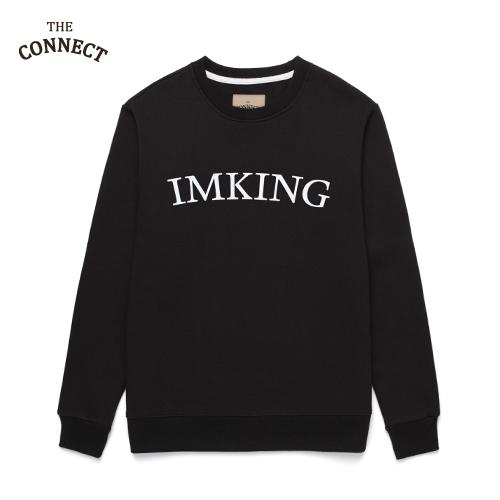 [더커넥트]THE CONNECT - IMKING CREWNECK (BLACK) 기모 맨투맨 크루넥 스웨트셔츠