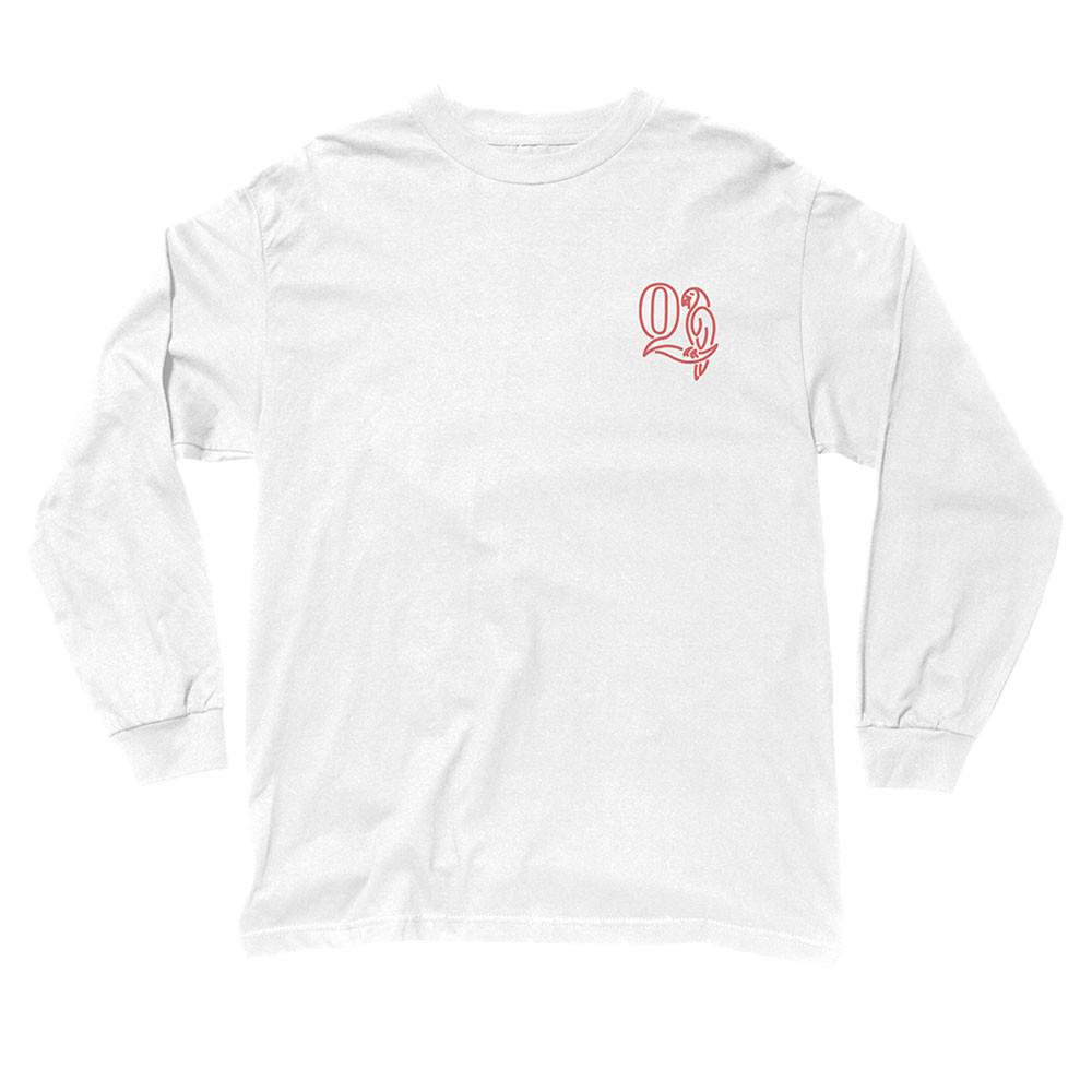 더 콰이엇 라이프 패럿 롱 슬리브 티셔츠 화이트