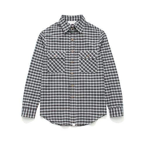 (Unisex) Check Shirt Black Tartan