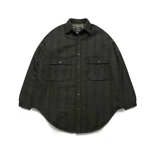 (Unisex) Melton Shirt Coat_Check