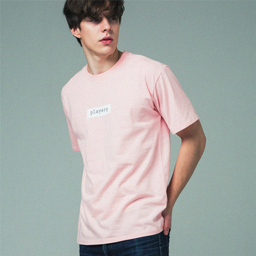 [어반플레이어스]TWO TONE BOX SLEEVE T-SHIRTS (PINK)