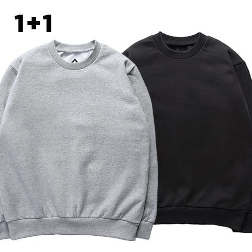 [1+1]슈퍼레이티브 - BASIC CREWNECK - 무지맨투맨 - 10컬러