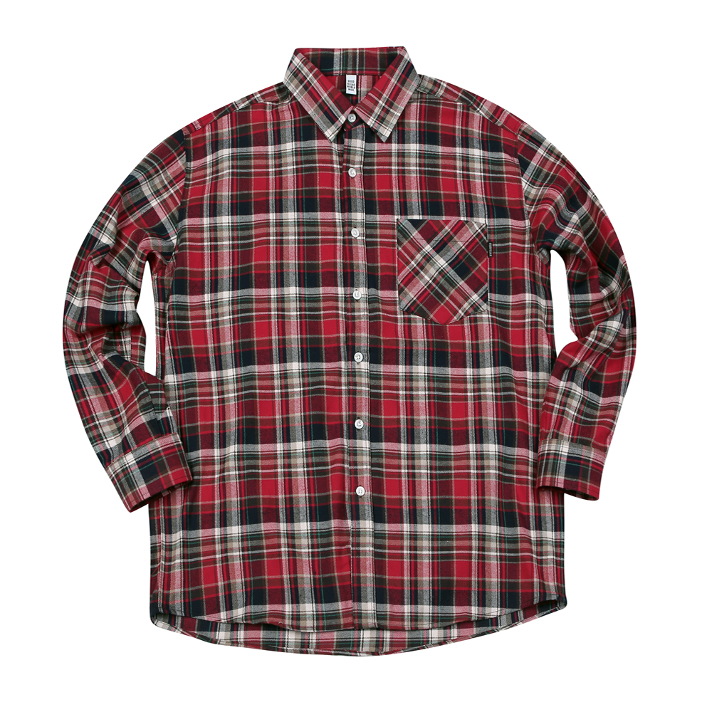 GF Multi Check Flannel Shirt Red