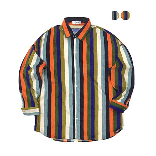 [행주착용][개코착용]Multi Stripe Corduroy Shirt (2color)(unisex)