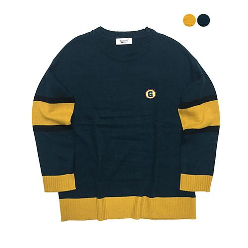 G Color Block Sweater (2color)(unisex)