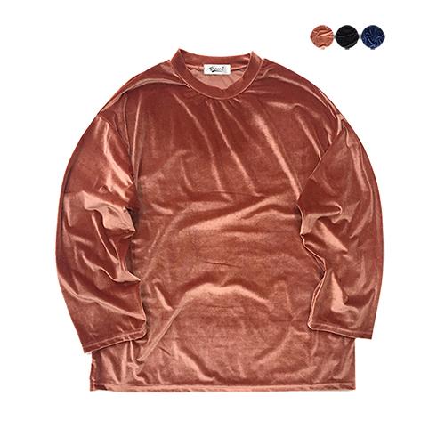 Soft Edge Velvet T-shirt (3color)(unisex)