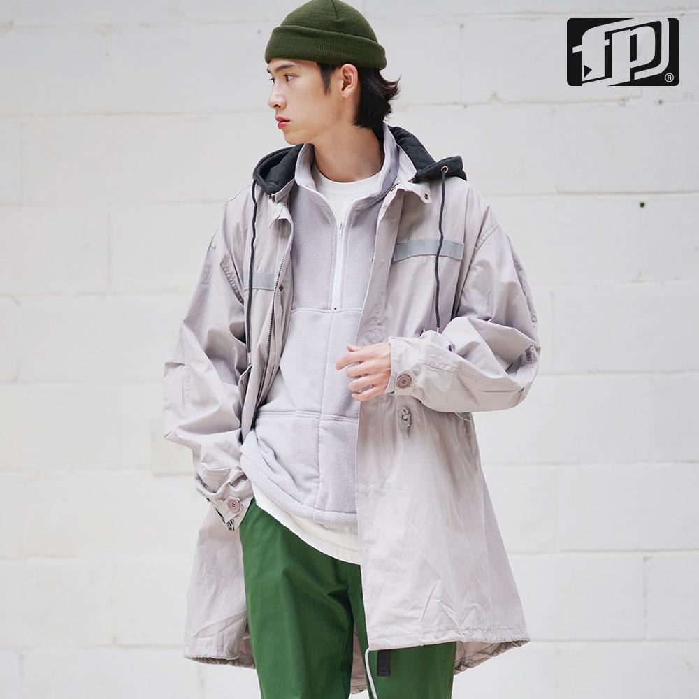 [페플] 테일후드 롱파카 회색 JHOT1085