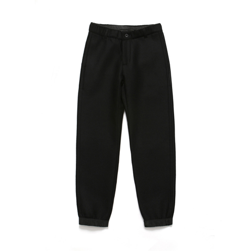 (Unisex) Wool Jogger Pants_Black