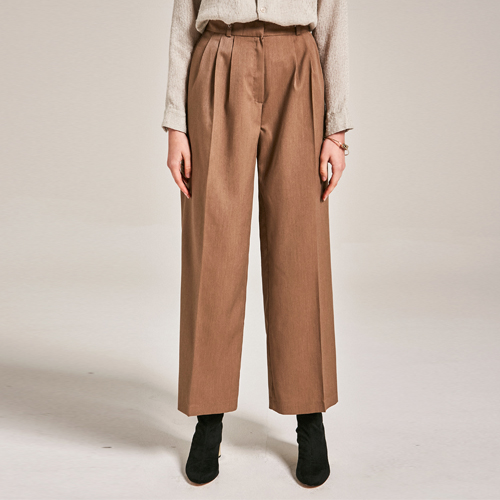 POINT TWO PINTUCK PANTS_BEIGE