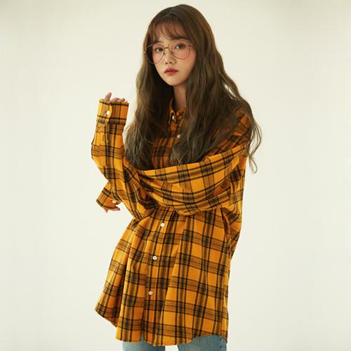 [다듀 최자착용][NCT 도영착용]Overfit Tartan Check Shirt (4color)(unisex)