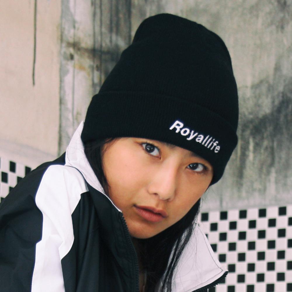 RLBC103 로얄라이프 로고 비니 - 블랙