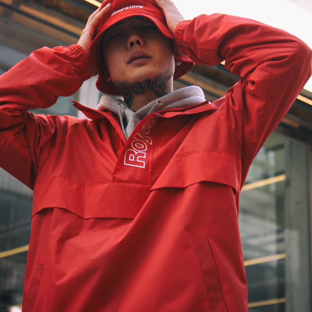 RLWD101 하프집업 아노락 자켓 - 레드