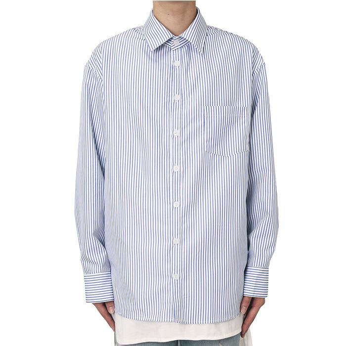 [클라코] 스트라이프 셔츠 V2 (화이트)