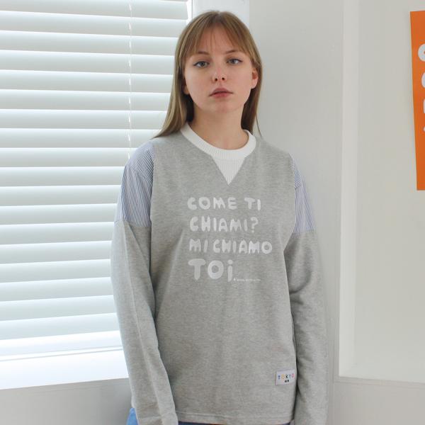 [TOi] 동경 소녀 네이비 스트라이프 포인트 티셔츠