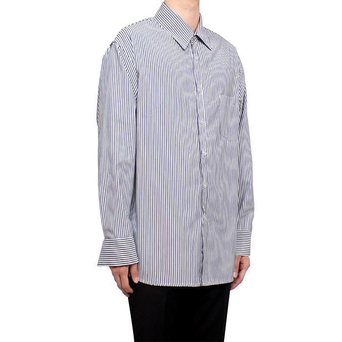 [클라코] 스트라이프 셔츠 V2 (다크 네이비)