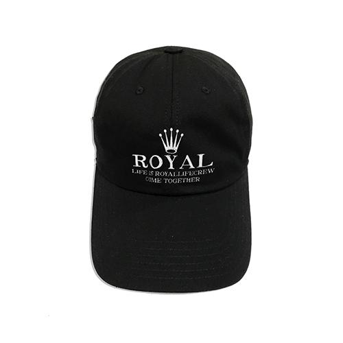 로얄라이프 RLBC105 로얄라이프 크루 볼 캡 - 블랙