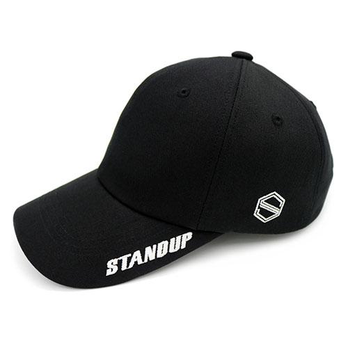 [스탠드업] 바이저스탠드업 블랙 컬러 볼캡 (레귤러 핏)
