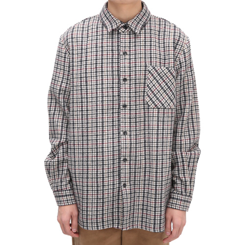 Fox Check Wool Shirts(Ivory)