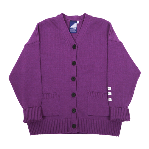 Label cardigan - purple