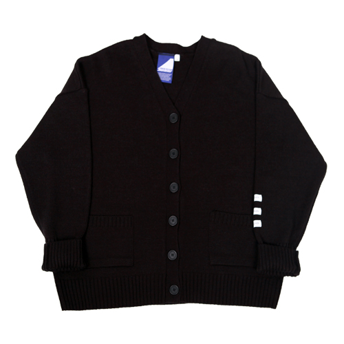 Label cardigan - black
