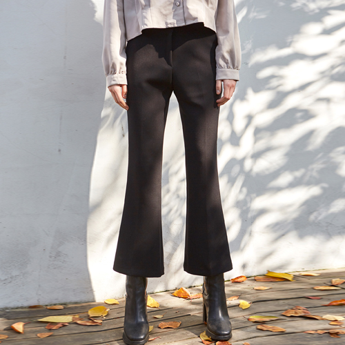 MODERN BOOTCUT SLACKS_BLACK