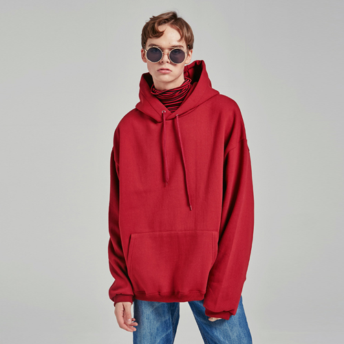 SEMIOVER BASIC HOODY_WINE