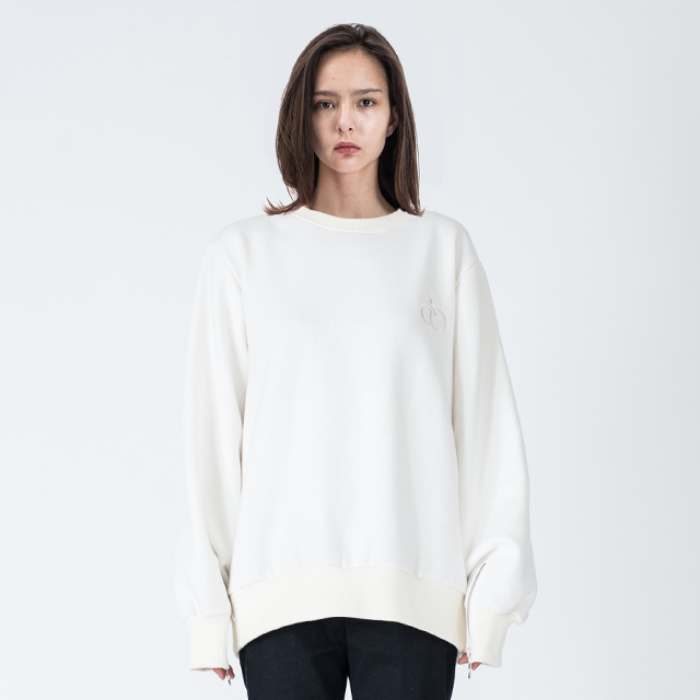 WOMENs SLEEVE ZIPPER SWEATSHIRTS (OFF WHITE)