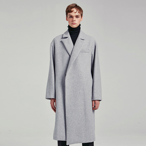 BASIC SIMPLE WOOL COAT_GRAY