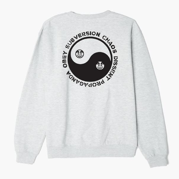 [OBEY] 오베이맨투맨 SUBVERSION CREW NECK 114981608 ASH
