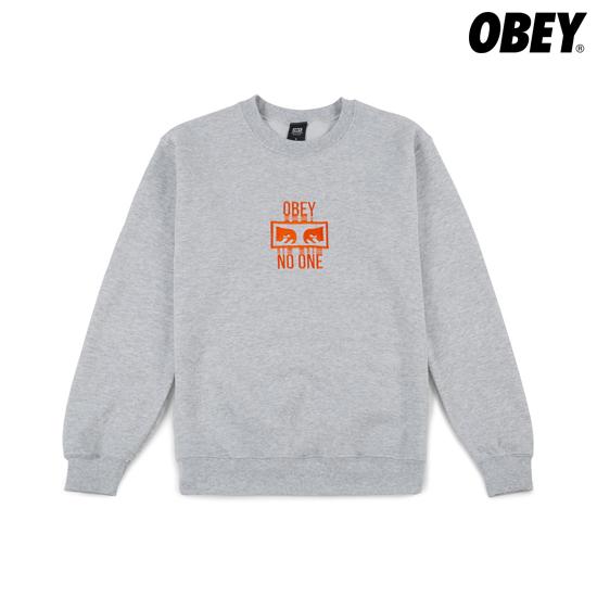 [OBEY]오베이NOONE맨투맨그레이