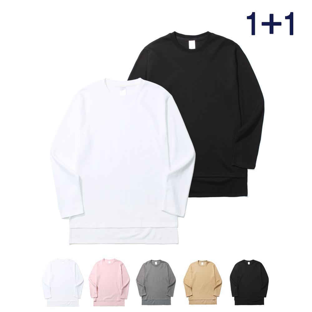 [1+1] [제멋] 언발란스 롱티셔츠 패키지 HJLT2060