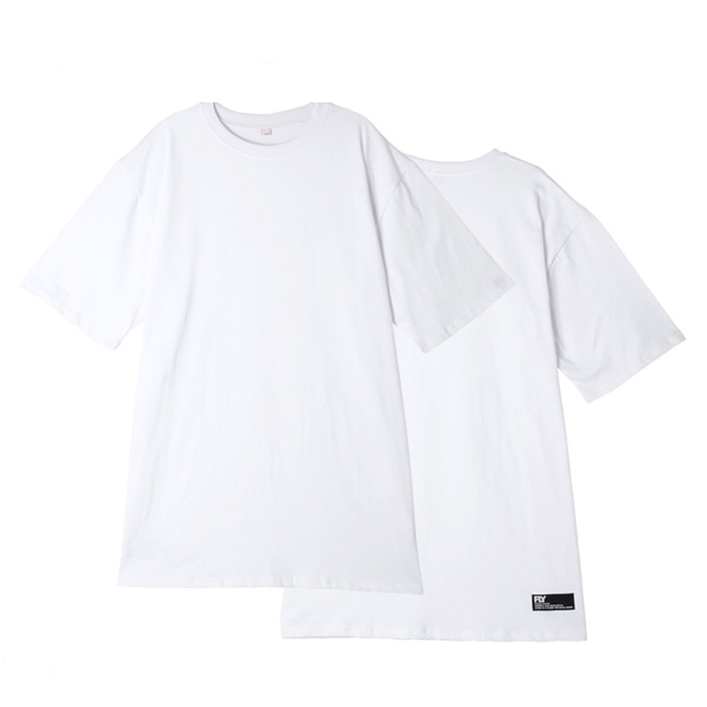 [UNISEX]스탠다드 레이어드 롱 티셔츠(O/White)